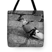 New York City Pigeon In Black And White Tote Bag