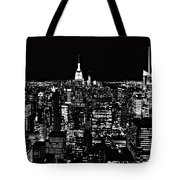 New York City Skyline At Night Tote Bag