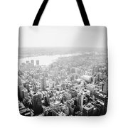 New York City Skyline - Foggy Day Tote Bag