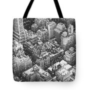 New York City - Skyline In The Snow Tote Bag by Vivienne Gucwa