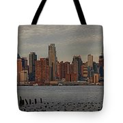 New York City Skyline Panoramic Tote Bag