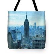 New York City Skyline Summer Day Tote Bag