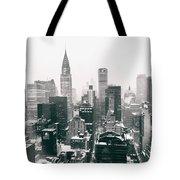 New York City - Snow-covered Skyline Tote Bag