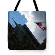 New York City Stars And Stripes Tote Bag