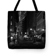 New York City Street - Night Tote Bag by Vivienne Gucwa