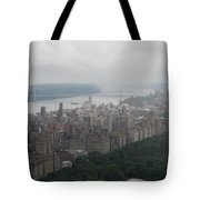 New York City Syline Draped In Clouds Tote Bag