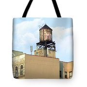New York City Water Tower 4 - Urban Scenes Tote Bag