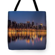 New York City West Side Morning Twilight I Tote Bag