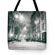 New York City - Winter Night In The West Village Tote Bag
