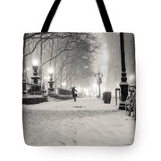 New York City Winter Night Tote Bag by Vivienne Gucwa