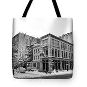 New York City Winter - Snow In Soho Tote Bag