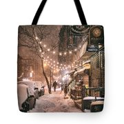 New York City - Winter Snow Scene - East Village Tote Bag