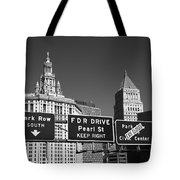 New York City With Traffic Signs Tote Bag