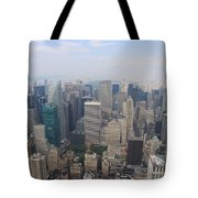 New York From Above Tote Bag