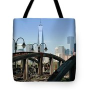 New York From New Jersey - Image 1633-01 Tote Bag
