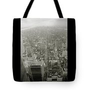 New York From The Trade Towers Tote Bag