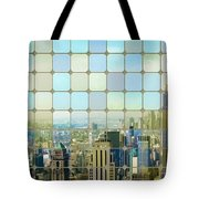 New York Golden Panorama Tote Bag