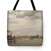New York Harbor From Bedloe's Island Tote Bag
