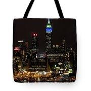 New York Honors Seattle Seahawks Tote Bag