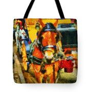 New York Horse And Carriage Tote Bag