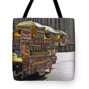 New York Hotdog Stand Tote Bag