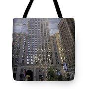 New York In Vertical Panorama Tote Bag