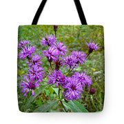 New York Ironweed Wildflower - Vernonia Noveboracensis Tote Bag
