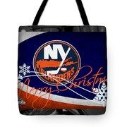 New York Islanders Christmas Tote Bag