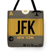 New York Luggage Tag Poster 3 Tote Bag by Naxart Studio