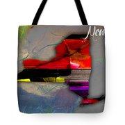 New York Map Watercolor Tote Bag