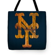 New York Mets Baseball Vintage Logo License Plate Art Tote Bag