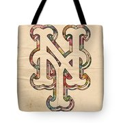 New York Mets Poster Art Tote Bag