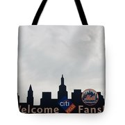 New York Mets Skyline Tote Bag