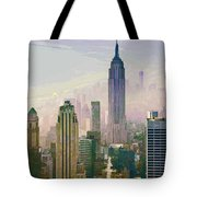 New York Misty Morning Tote Bag