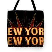 New York New York Tote Bag