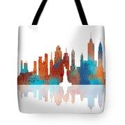 New York New York Skyline  Tote Bag