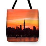 New York November Dawn Tote Bag