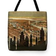 New York Old And New Tote Bag