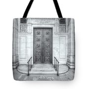 New York Public Library Entrance II Tote Bag