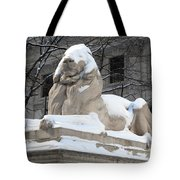 New York Public Library Lion Tote Bag