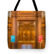 New York Public Library Main Reading Room Entrance I Tote Bag