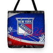 New York Rangers Christmas Tote Bag