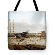 New York Shipyard, 1833 Tote Bag