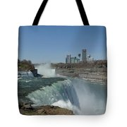 New York Side Of Niagara Falls Tote Bag