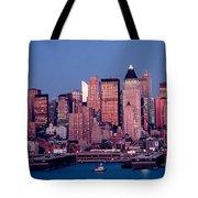 New York Skyline At Dusk Tote Bag