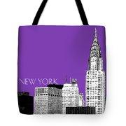 New York Skyline Chrysler Building - Purple Tote Bag