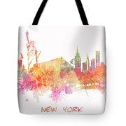 New York Skyline City Tote Bag