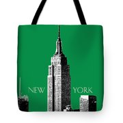New York Skyline Empire State Building - Forest Green Tote Bag