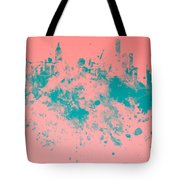 New York Skyline Paint Splash Tote Bag