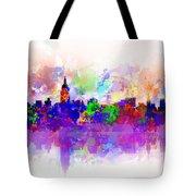 New York Skyline Splats 3 Tote Bag by Bekim Art
